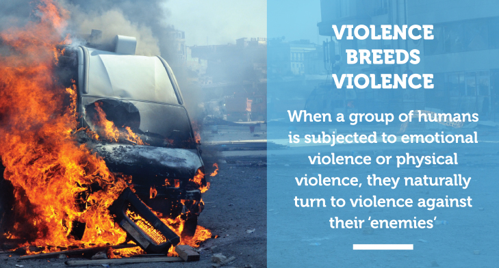 A burning vehicle.